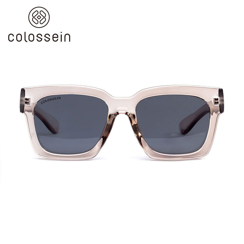 COLOSSEIN Hot Summer Square Frame Fashion Sunglasses - Colossein Fashion polarized Sunglasses Vintage  Retro handcraft for men women
