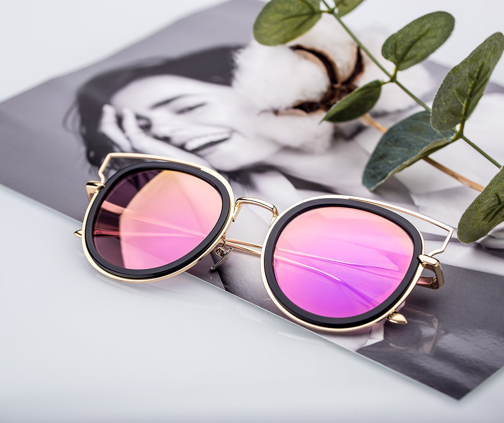 PINGLAS Cateye Style Luxury Classic  Sunglasses for Women