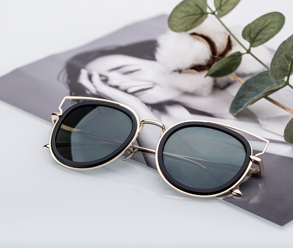 4f4dc9347fa COLOSSEIN PINGLAS Modern Cat eye Sunglasses Luxury Design Street Classic  Coating Glasses Women Summer Sun block