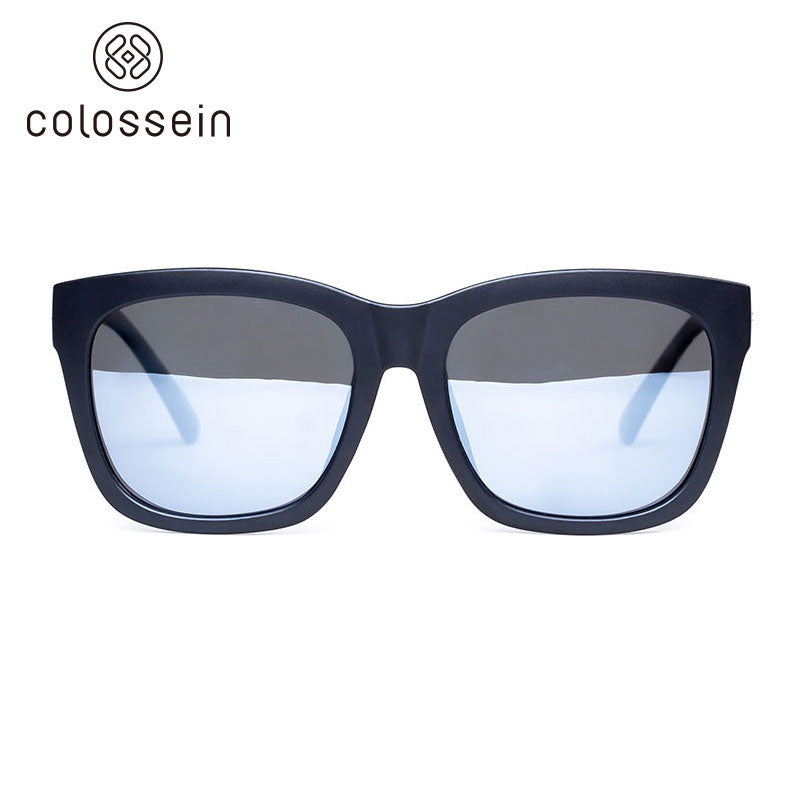 COLOSSEIN Classic Summer Black Square Frame Polarized Fashion  Sunglasses - Colossein Fashion polarized Sunglasses Vintage  Retro handcraft for men women
