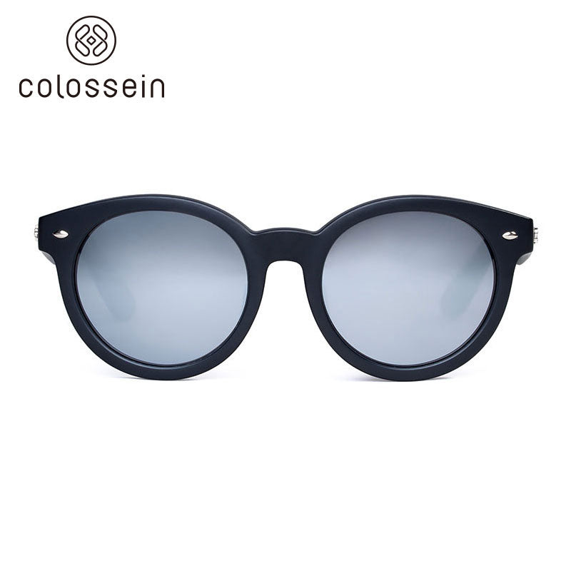 COLOSSEIN Retro Round Polarized Lens Eyewear Sports Sunglasses - Colossein Fashion polarized Sunglasses Vintage  Retro handcraft for men women