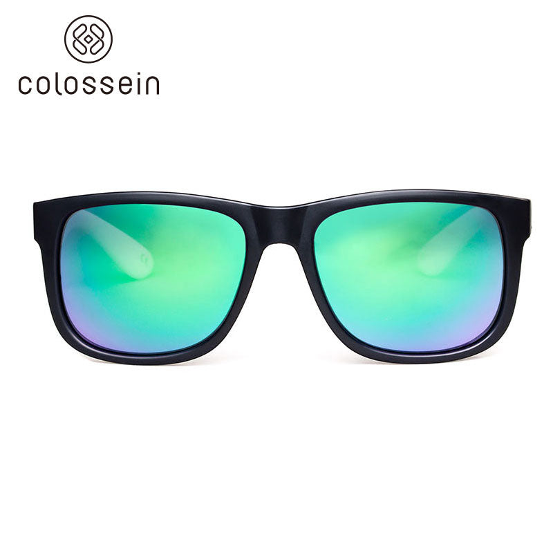 COLOSSEIN Retro Classic Style Square Black Frame Polarized Sunglasses - Colossein Fashion polarized Sunglasses Vintage  Retro handcraft for men women