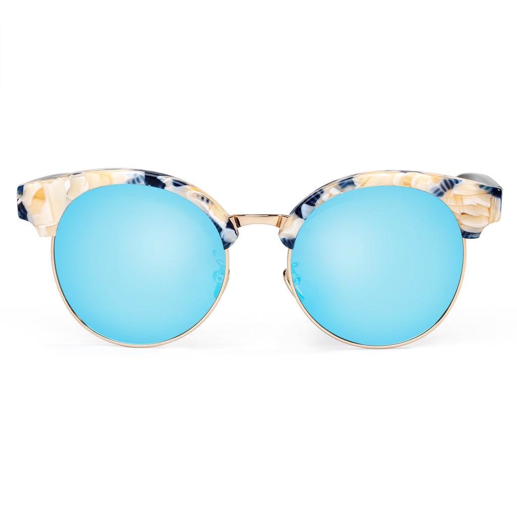 Hand Made Acetate Frame Mirror Polarized Fashion Sunglasses For Women