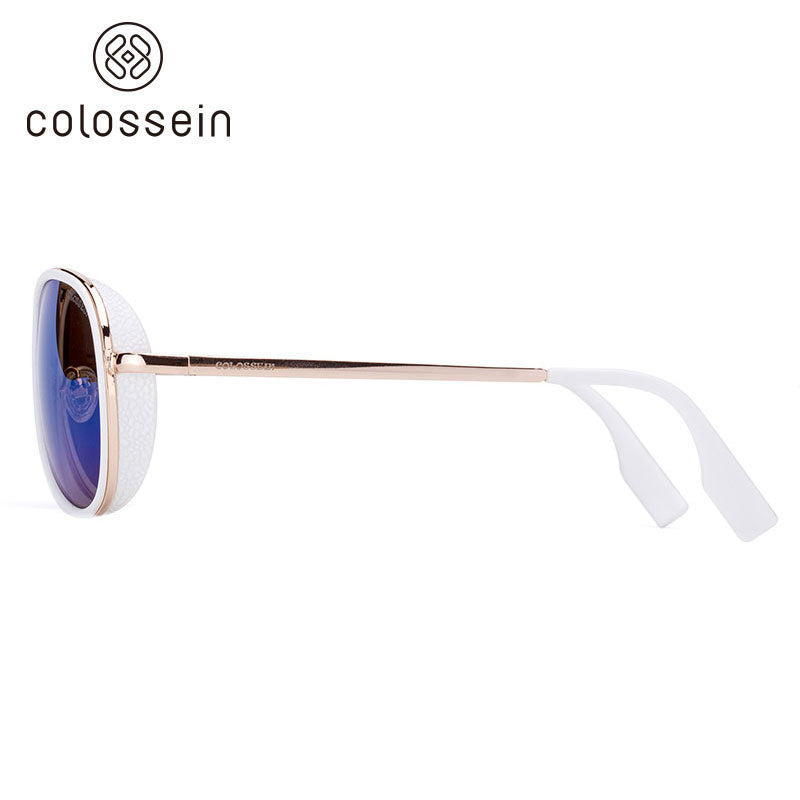 COLOSSEIN Metal Frame Fashion Sunglasses - Colossein Fashion polarized Sunglasses Vintage  Retro handcraft for men women