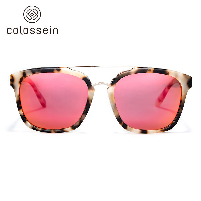 COLOSSEIN Classic Square Frame Polarized Lenses Fashion Sunglasses - Colossein Fashion polarized Sunglasses Vintage  Retro handcraft for men women