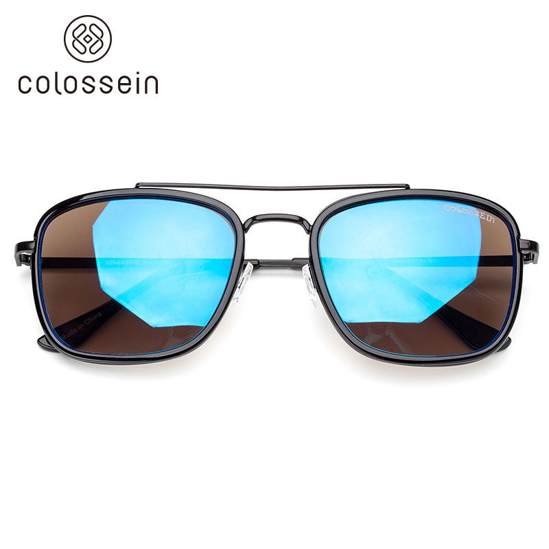 COLOSSEIN Vintage Alloy Metal Frame Sunglasses UV400 - Colossein Fashion polarized Sunglasses Vintage  Retro handcraft for men women