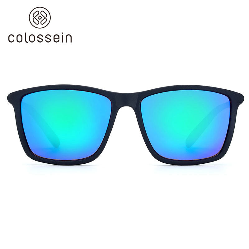 COLOSSEIN Vintage Square Frame Goggle Style Sunglasses - Colossein Fashion polarized Sunglasses Vintage  Retro handcraft for men women
