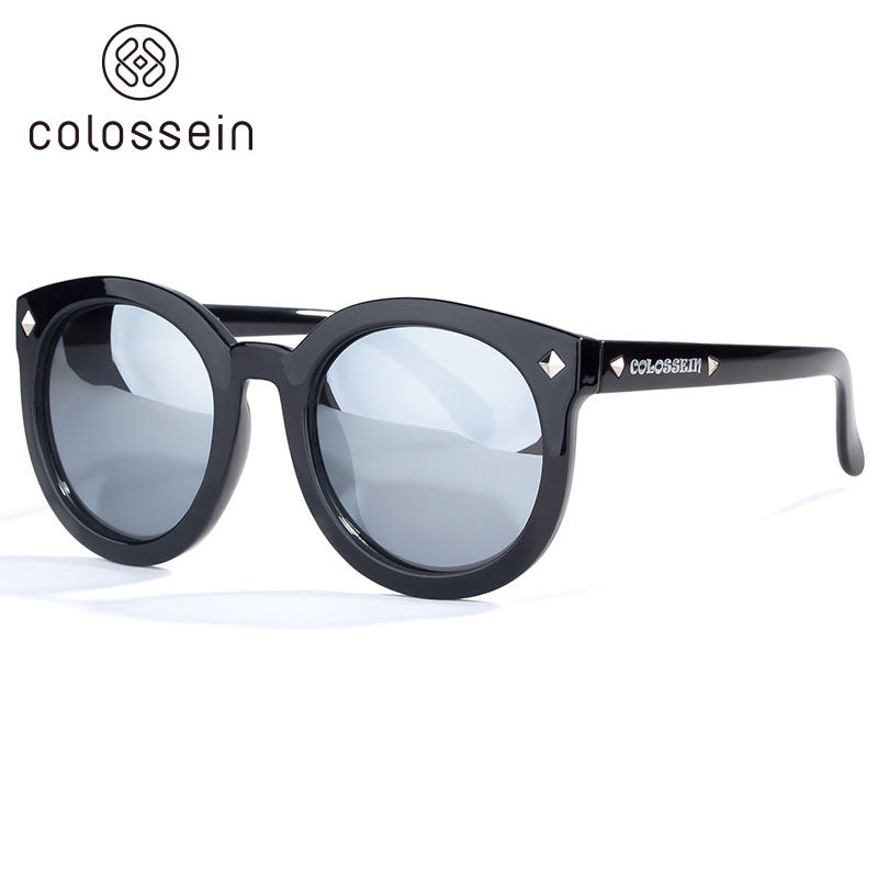 COLOSSEIN Round TR90 Frame with Mirror Polarized Lens Street Fashion Sunglasses - Colossein Fashion polarized Sunglasses Vintage  Retro handcraft for men women