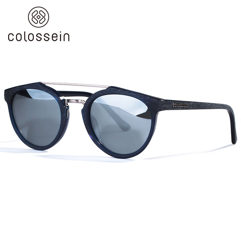 Classic Mirrored lens Retro Round Polarized Sunglasses - Colossein Fashion polarized Sunglasses Vintage  Retro handcraft for men women
