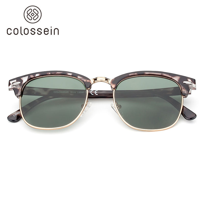 COLOSSEIN Retro Aviator Style Polarized Luxury Fashion Sunglasses - Colossein Fashion polarized Sunglasses Vintage  Retro handcraft for men women