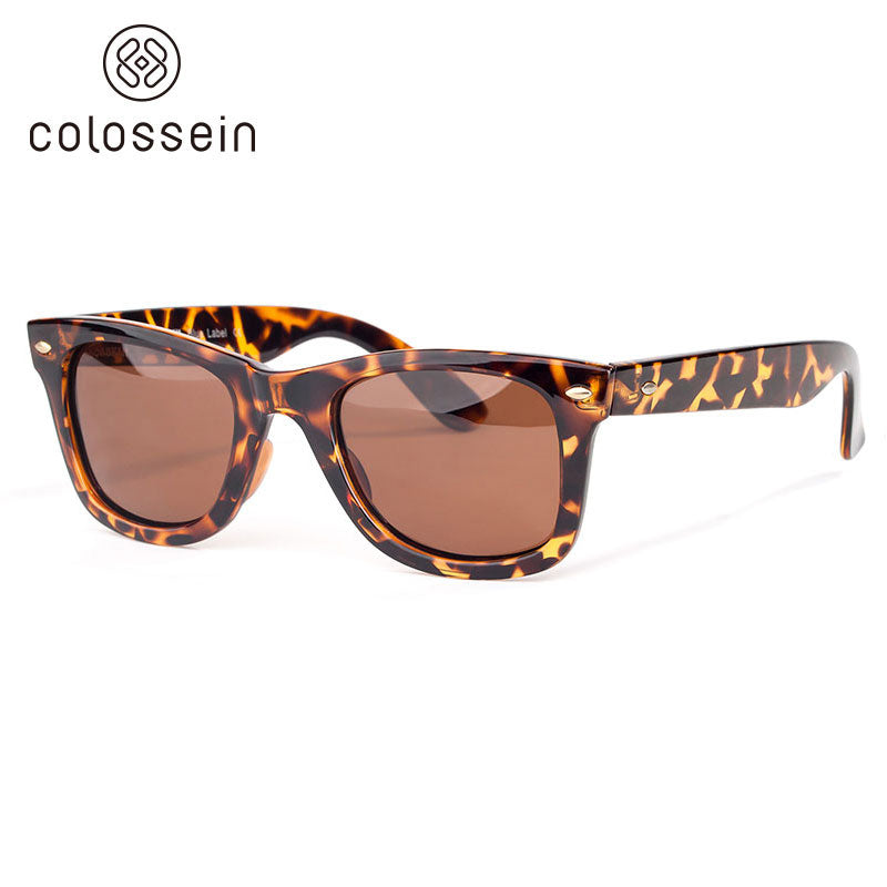 Classic Square Leopard Pattern Frame Fashion Sunglasses - Colossein Fashion polarized Sunglasses Vintage  Retro handcraft for men women
