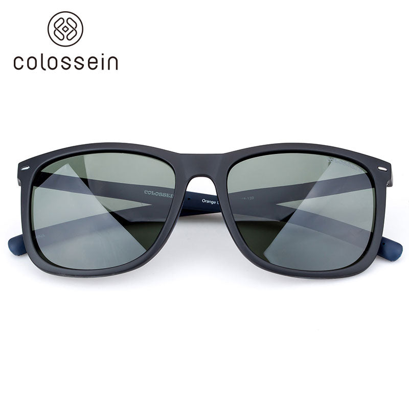 COLOSSEIN Fashion Sunglasses for Men TR90 Lightweight Frame Polarized Lens - Colossein Fashion polarized Sunglasses Vintage  Retro handcraft for men women
