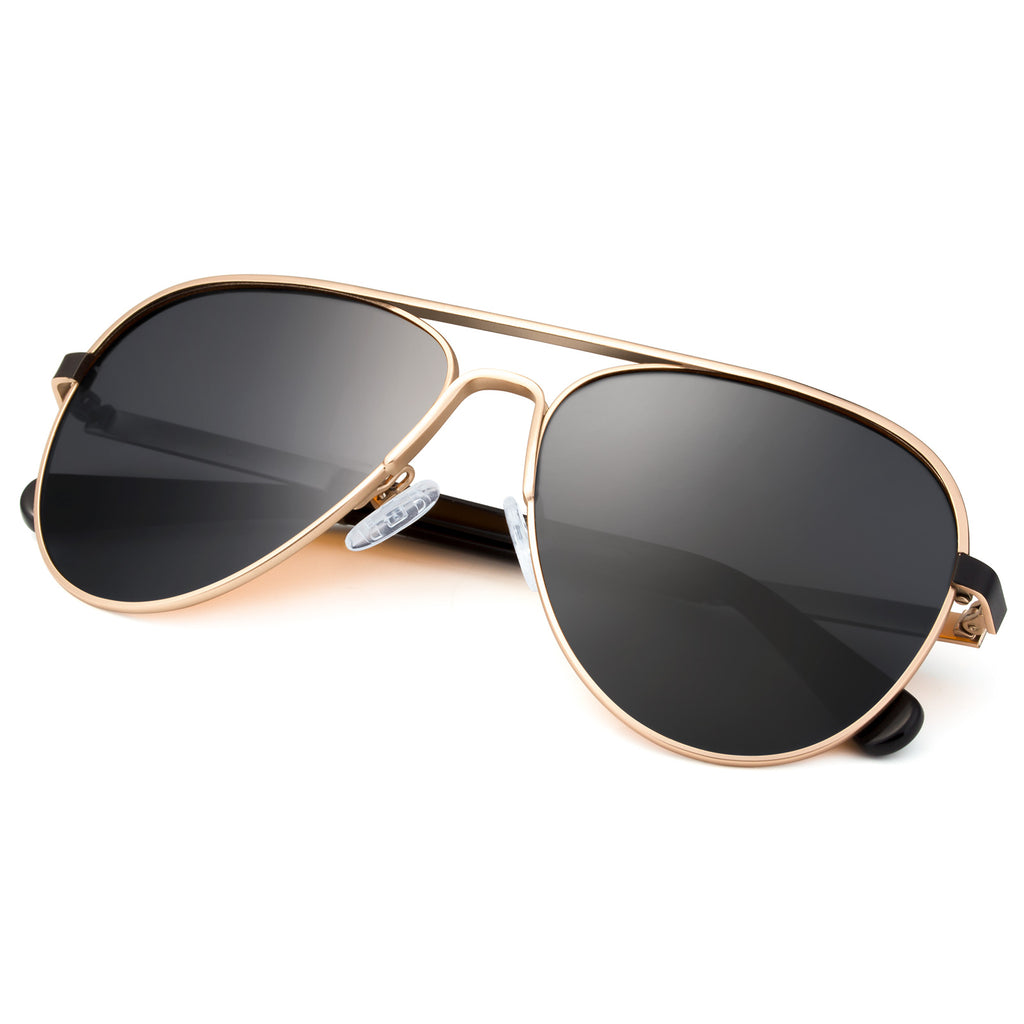 Classic Sunglasses with Polarized Lens Champagne Colors Super Light Weight