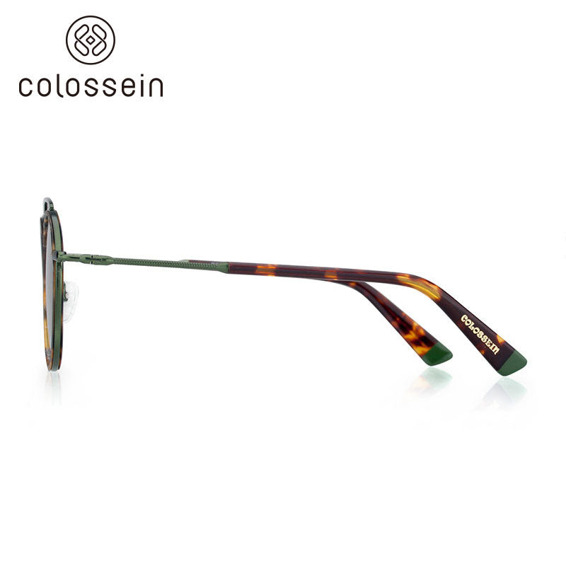 COLOSSEIN Round Tortoise Retro Women Fashion Sunglasses - Colossein Fashion polarized Sunglasses Vintage  Retro handcraft for men women