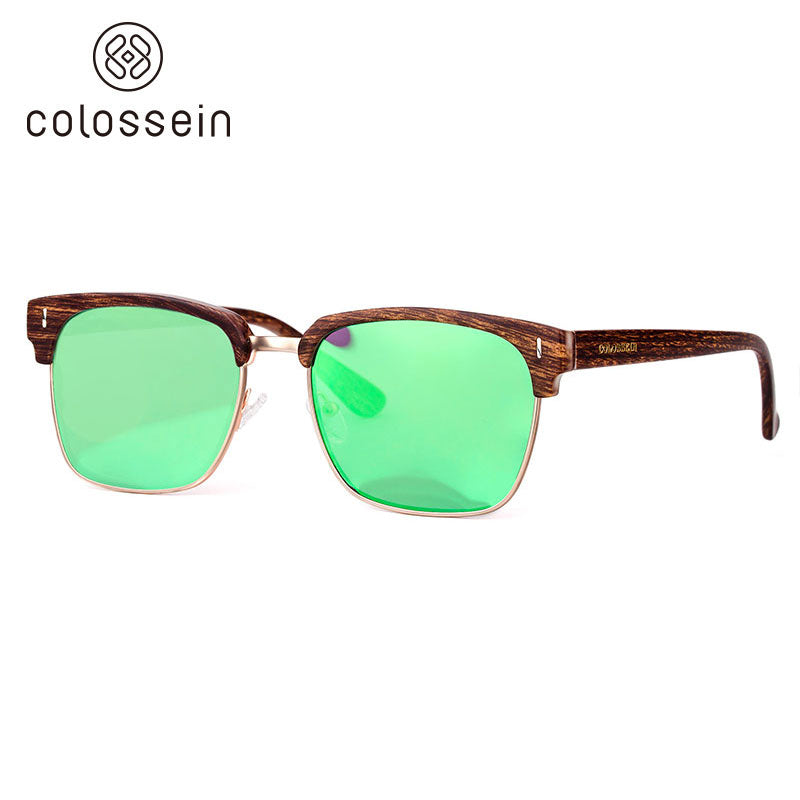 COLOSSEIN New Trendy Glasses Eye Goggles Rectangular Polarized Fashion Sunglasses - Colossein Fashion polarized Sunglasses Vintage  Retro handcraft for men women