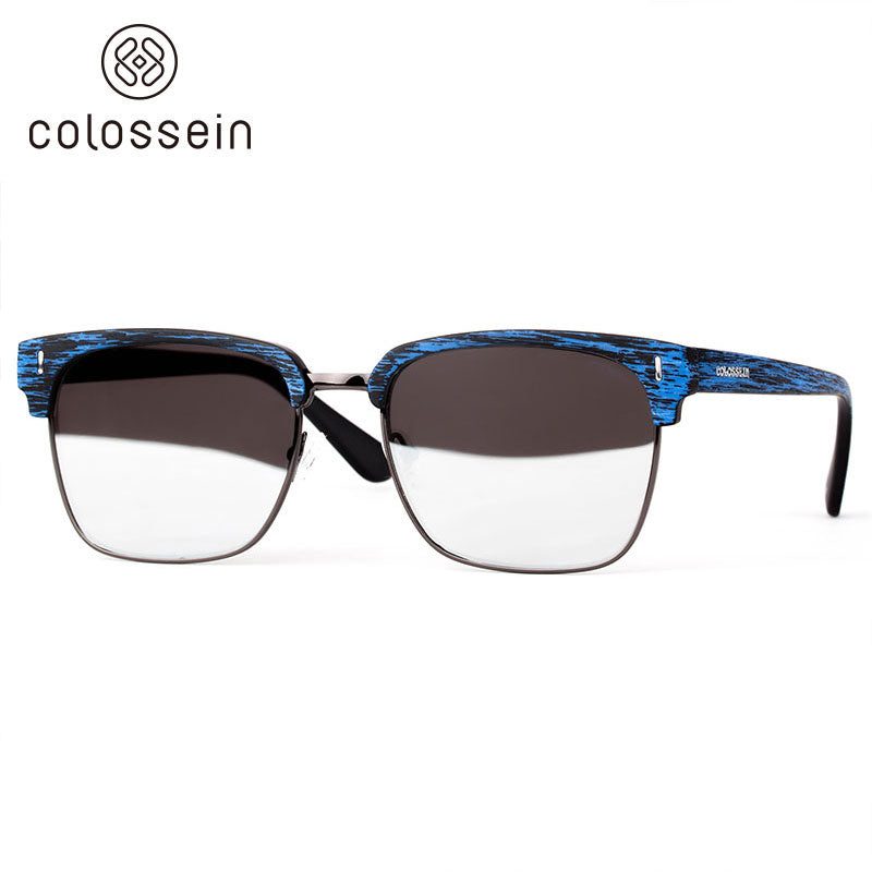 COLOSSEIN New Trendy Glasses Eye Goggles Rectangular Fashion Polariezd Sunglasses - Colossein Fashion polarized Sunglasses Vintage  Retro handcraft for men women