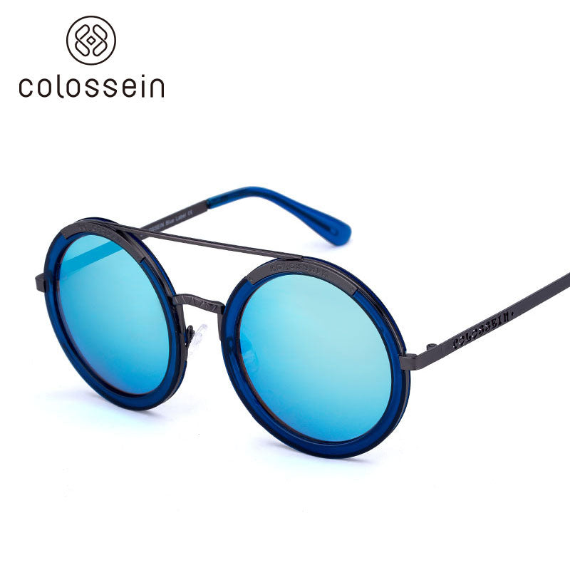 COLOSSEIN Vintage Round Mirrored Polarized Fashion Sunglasses - Colossein Fashion polarized Sunglasses Vintage  Retro handcraft for men women
