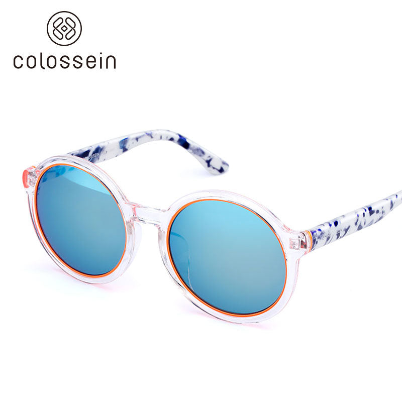 COLOSSEIN Retro Round Frame Luxury Fashion Sunglasses - Colossein Fashion polarized Sunglasses Vintage  Retro handcraft for men women