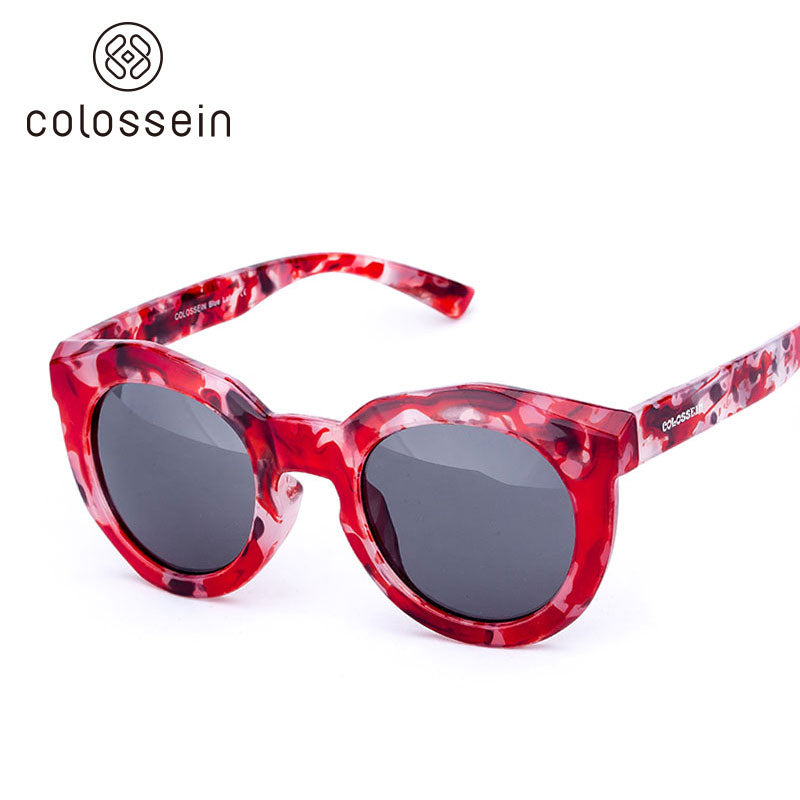 COLOSSEIN Women Round Frame Fashion Eyewear Steampunk Polarized Sunglasses - Colossein Fashion polarized Sunglasses Vintage  Retro handcraft for men women