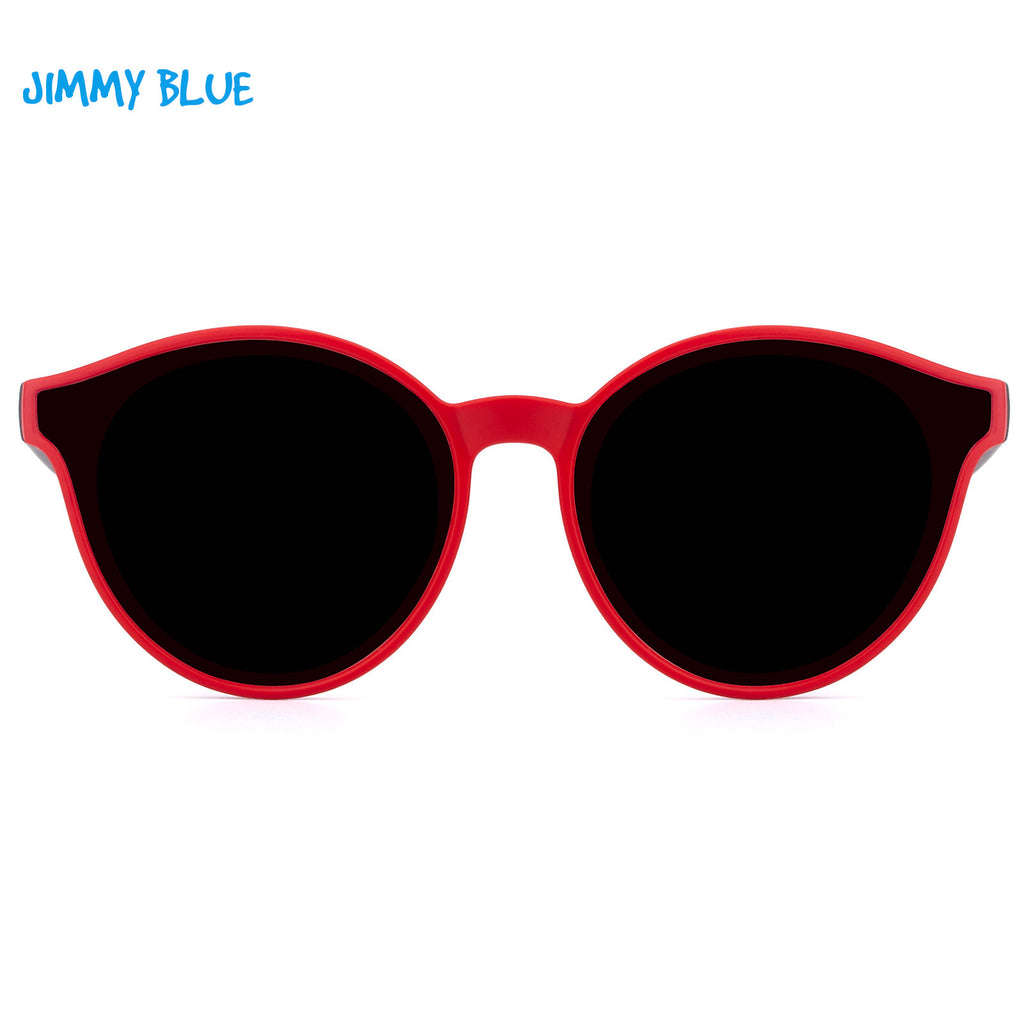 JIMMY BLUE Sunglasses Children Retro Vintage Metal Eyewear