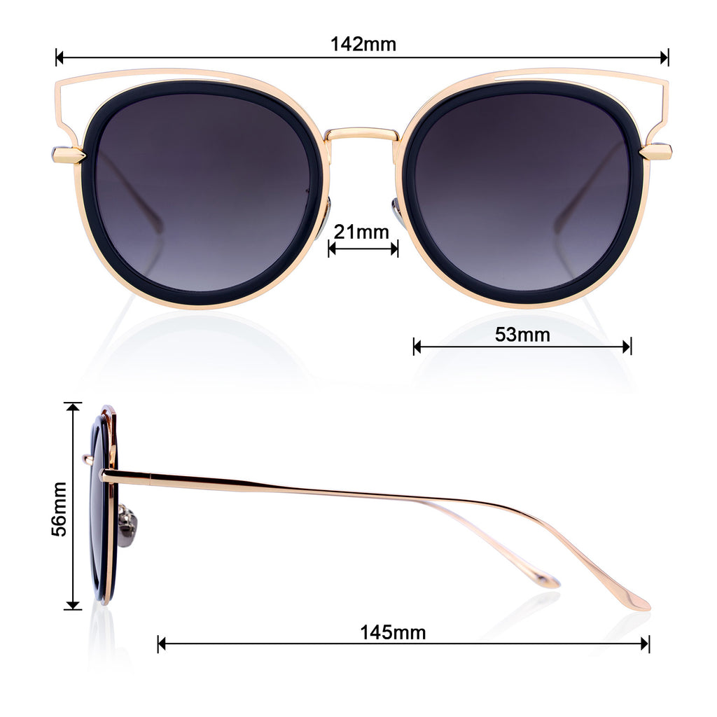 Cateye Style Luxury Classic  Sunglasses for Women - Colossein Fashion polarized Sunglasses Vintage  Retro handcraft for men women