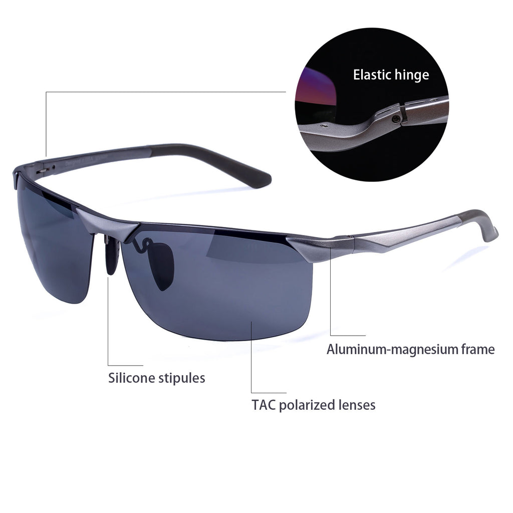 COLOSSEIN MSTAR POLARIZED SUNGLASSES FOR MEN,ALUMINUM FRAME UV400 LENSES