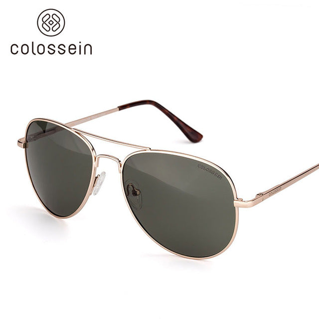 COLOSSEIN Retro Metal Frame Fashion Sunglasses - Colossein Fashion polarized Sunglasses Vintage  Retro handcraft for men women