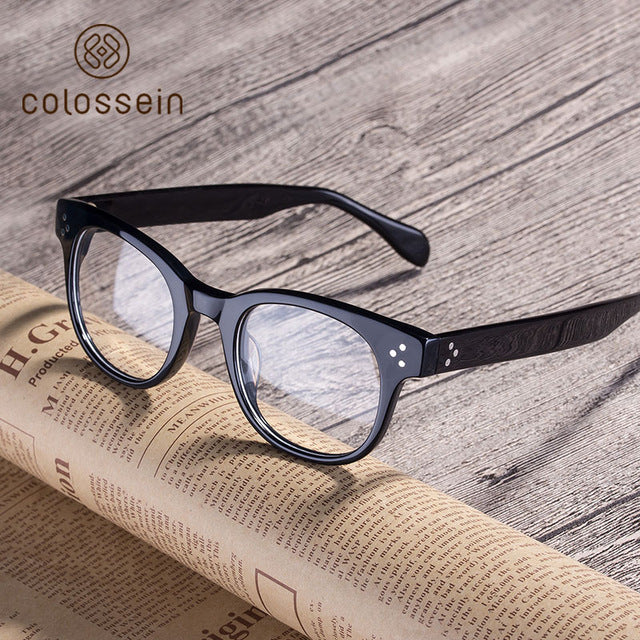 COLOSSEIN Retro Handmade Acetate Eyewear Frame Designed by Brand Designer - Colossein Fashion polarized Sunglasses Vintage  Retro handcraft for men women