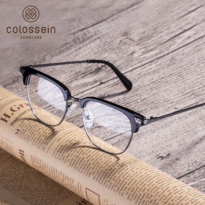 COLOSSEIN Vintage Fashion Brand Designer Handmade Acetate Eyewear Frame - Colossein Fashion polarized Sunglasses Vintage  Retro handcraft for men women