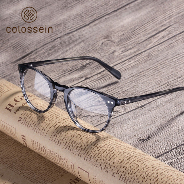 Classic Trendy Handmade Acetate Eyewear Frame - Colossein Fashion polarized Sunglasses Vintage  Retro handcraft for men women