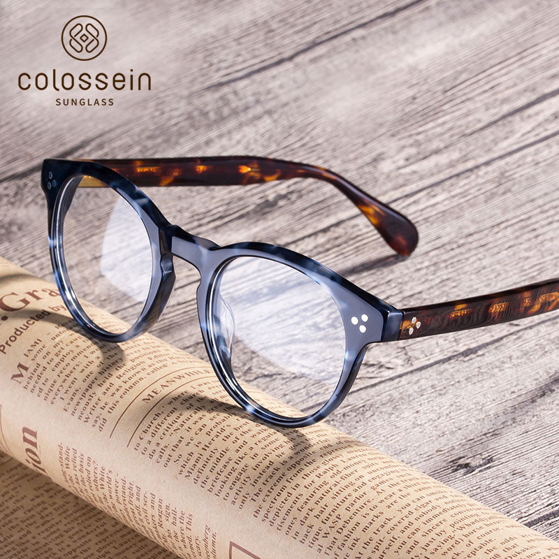 Classic Style Handcrafted Acetate Frame - Colossein Fashion polarized Sunglasses Vintage  Retro handcraft for men women