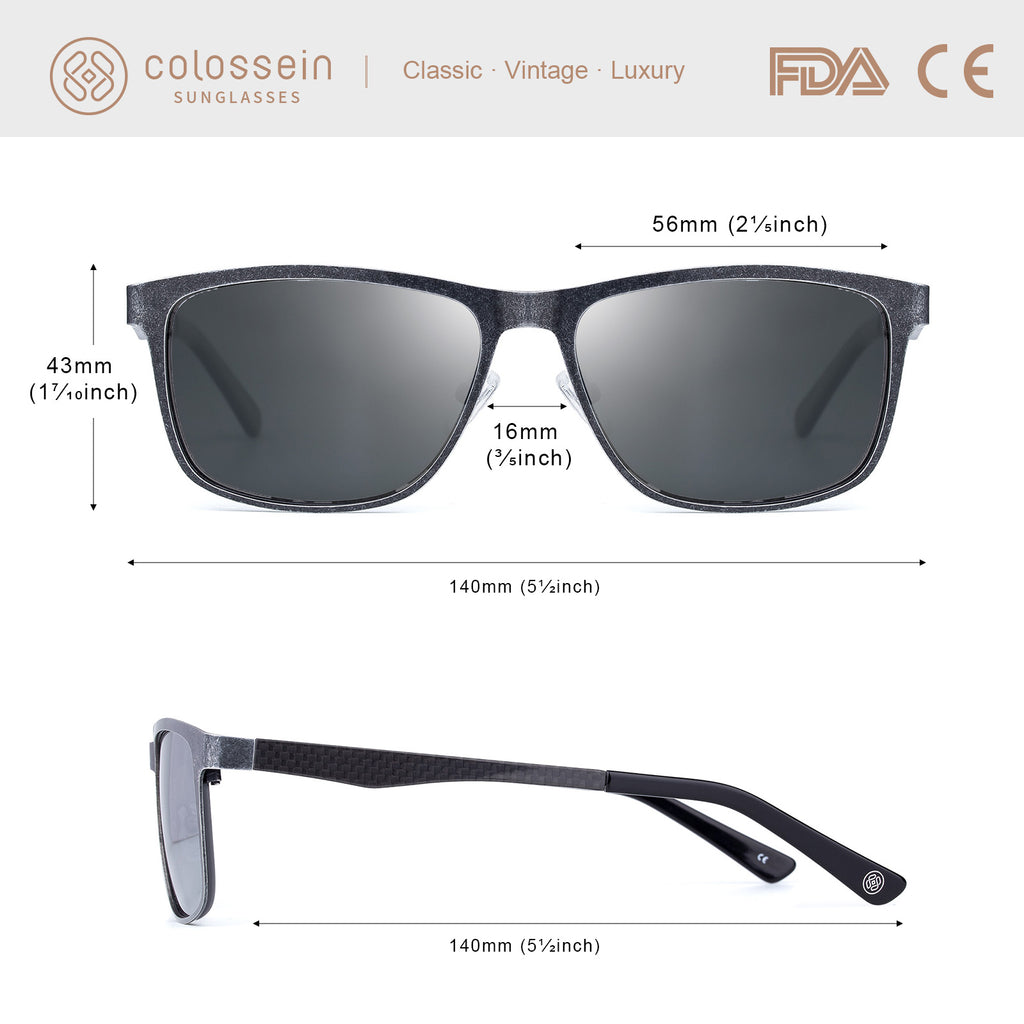 Distress Metal Frame Carbon Fibre Polarized Sunglasses 2019 New Arrival