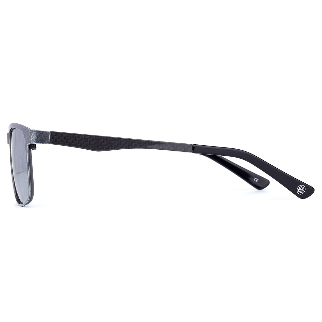 Colossein Originals Vintage Stainless Steel Frame Carbon Fibre Polarized Sunglasses