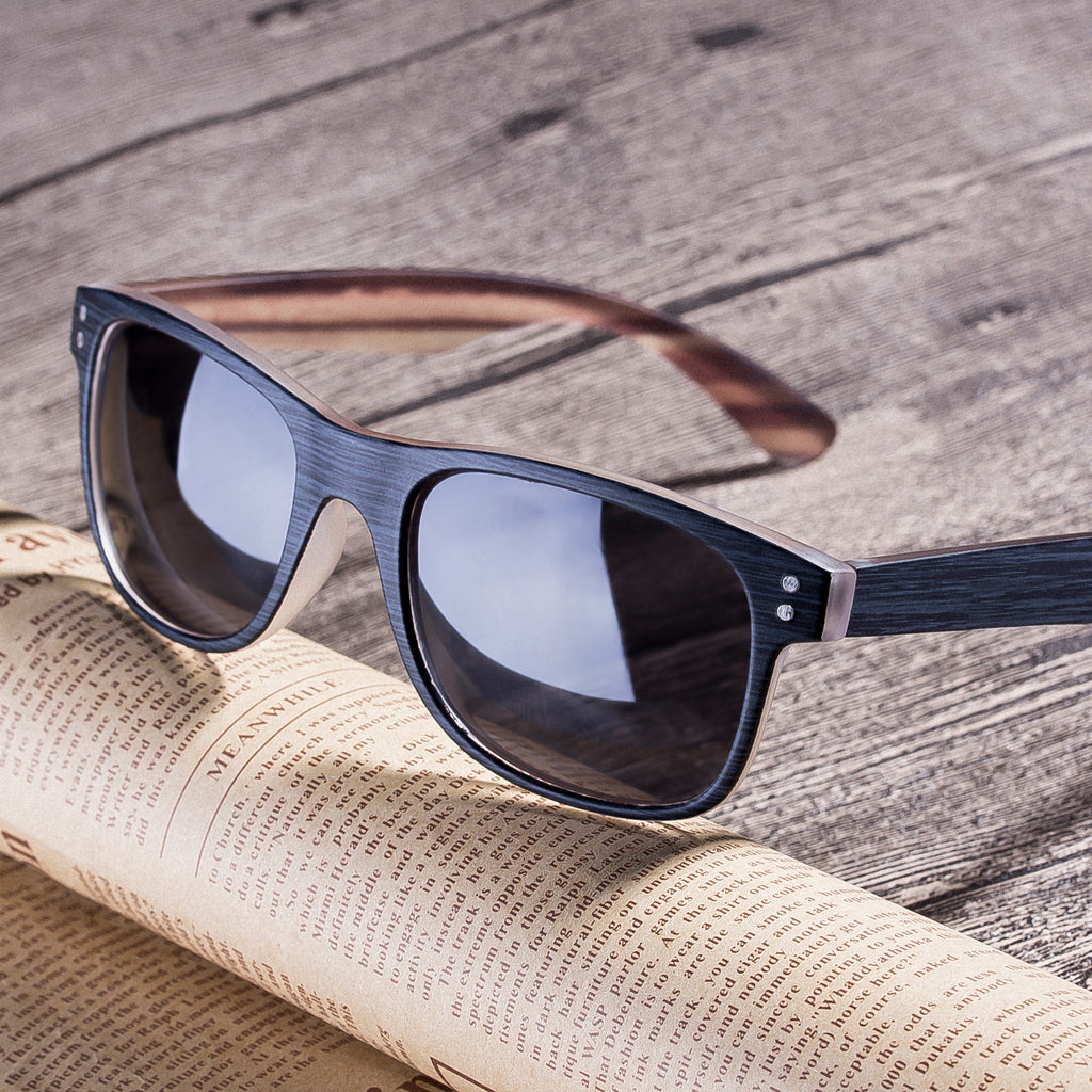 Sunglasses wood grain frame Polarized Lens - Colossein Fashion polarized Sunglasses Vintage  Retro handcraft for men women