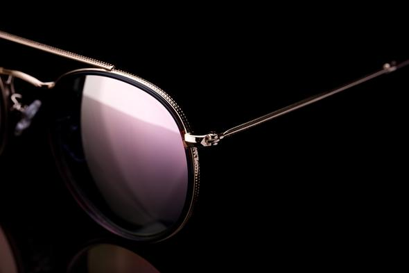 Customizable Round Sunglasses Light-weight TR90 with metal Frame with pink mirror Polarized Lens - Colossein Fashion polarized Sunglasses Vintage  Retro handcraft for men women