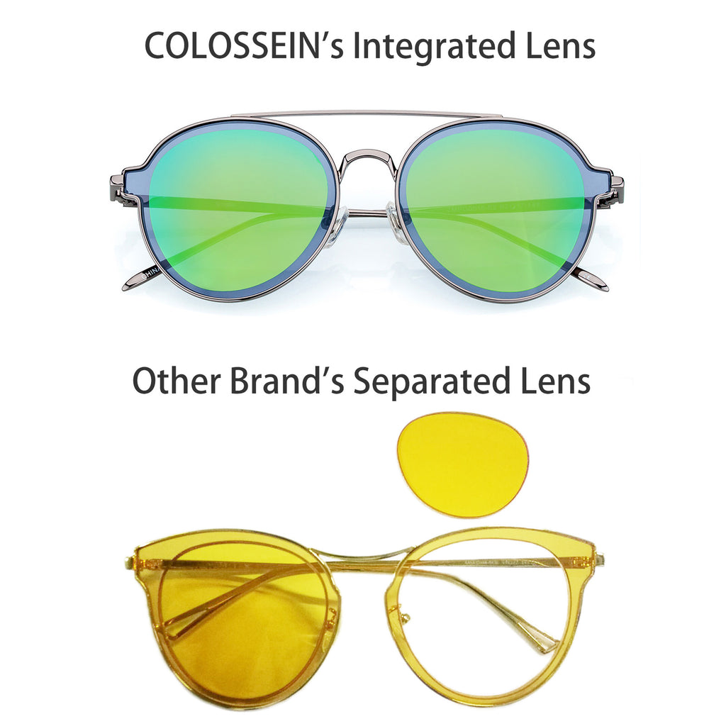COLOSSEIN Fashion Sunglasses for Women Round Metal Frame UV400 Quality Lens - Colossein Fashion polarized Sunglasses Vintage  Retro handcraft for men women