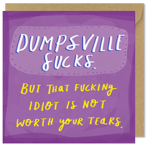 purple square break up card