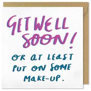 white square get well soon card