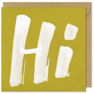 green square greeting card hi