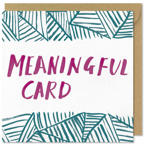 pattern square meaningful greeting card
