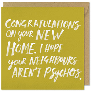 square green greeting card congratulations new home