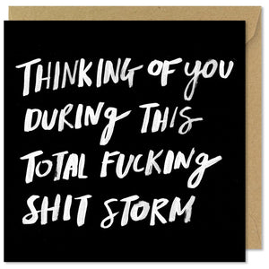 black square sympathy card fucking shit storm