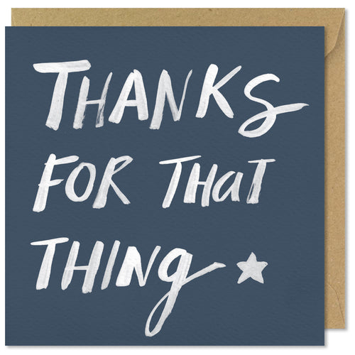 blue square thank you card thanks for that thing