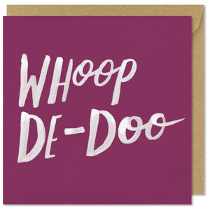 pink square greeting card whoop de doo
