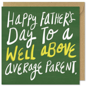 green square father's day greeting card