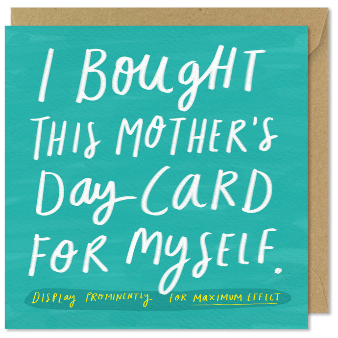 green square mothers day card
