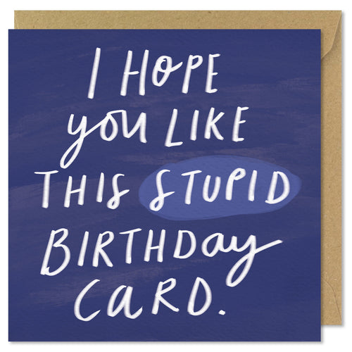 stupid square birthday card