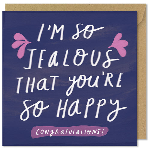navy square congratulations card