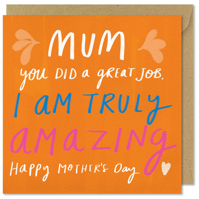 orange square mothers day card