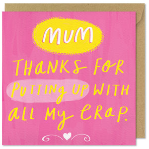 pink square mothers day card